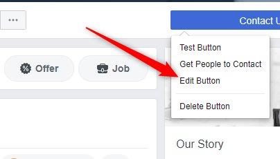 Here you can change your call to action button