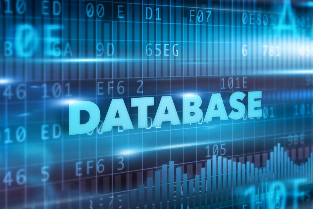 Data concept blue background concept blue text