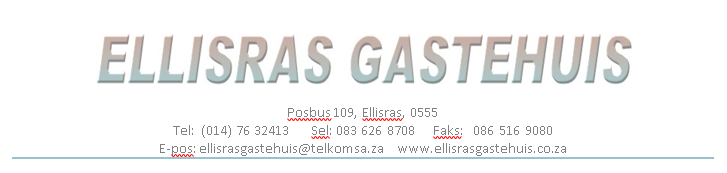 Hotel Management Software Clients - Ellisras Gastehuis